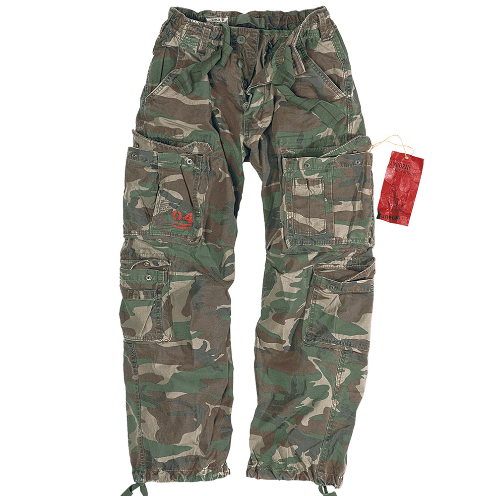 Mens Army Paratrooper Combat Cargo Baggy Work Trousers Pants ...