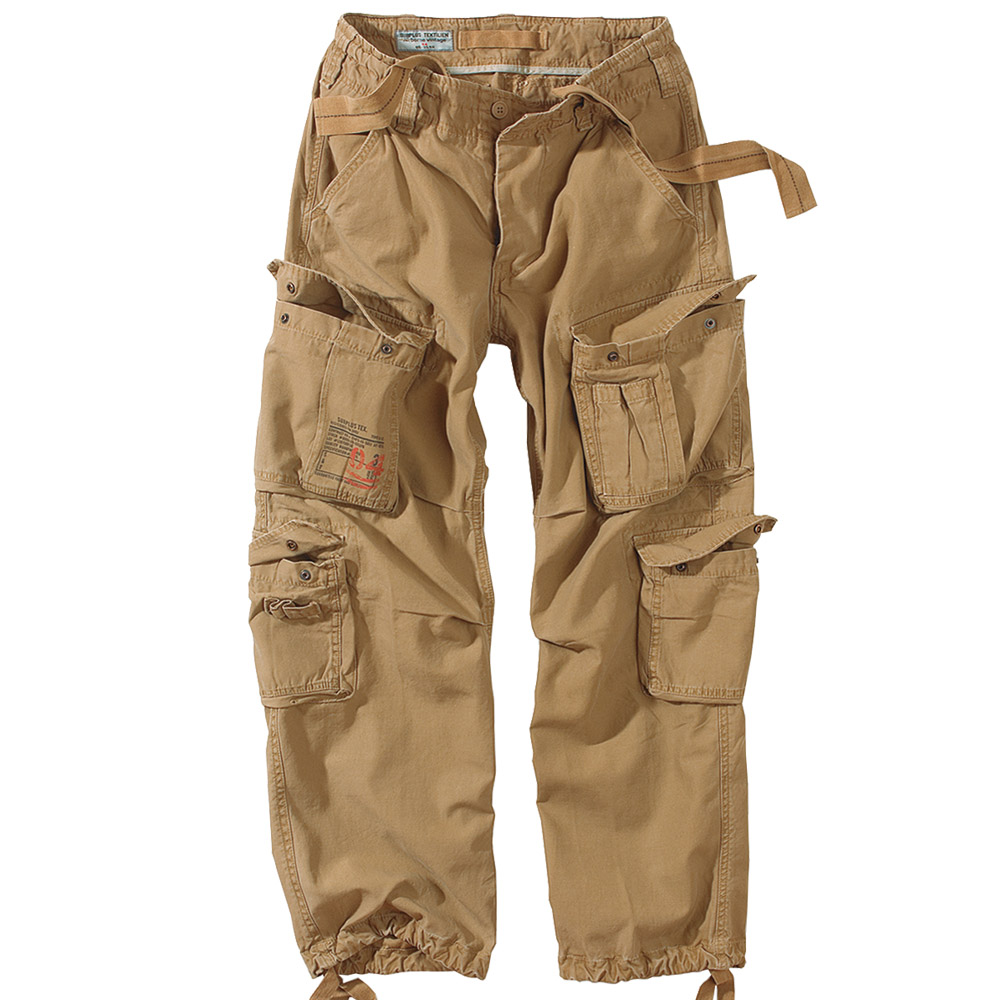 SURPLUS-VINTAGE-MENS-AIRBORNE-COMBAT-TROUSERS-CARGO-WORK-WEAR-ARMY-PANTS-COYOTE