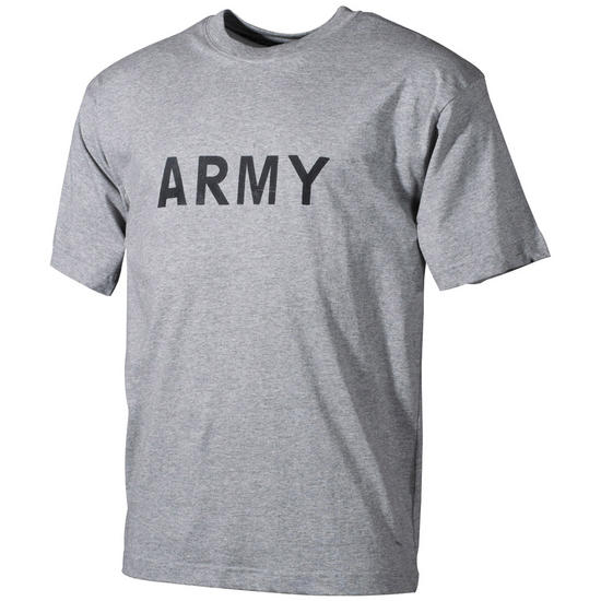 MFH T-shirt Grey with Army Print