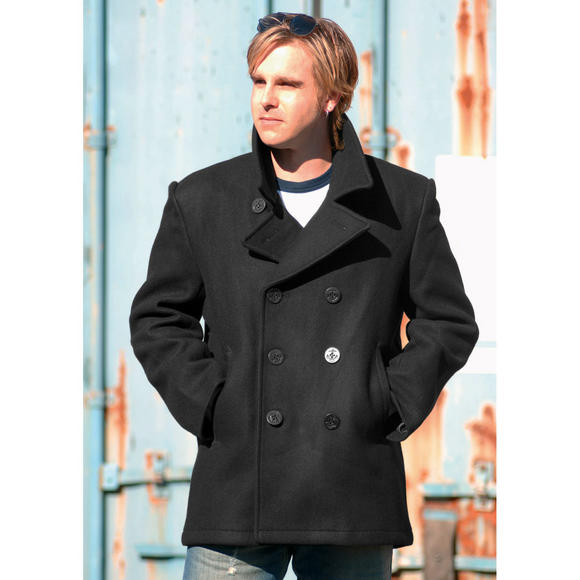 Mil-Tec US Navy Pea Coat Black