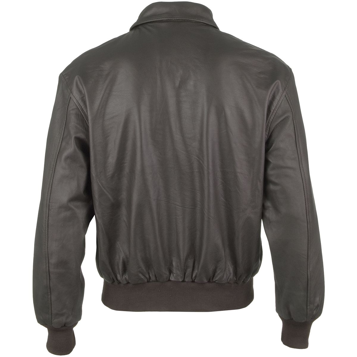 Classic Military Leather A2 Army Mens Short Bomber Flight Jacket ...