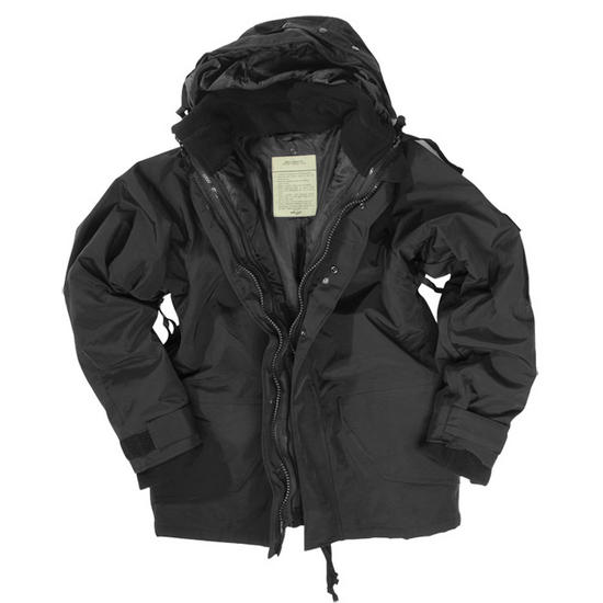 Mil-Tec ECWCS Jacket with Fleece Black Preview