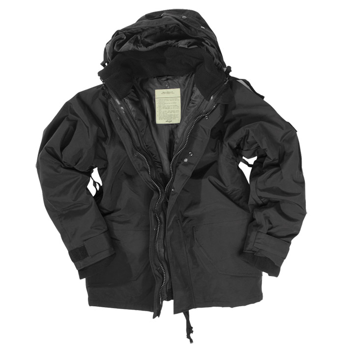 Mil-Tec ECWCS Jacket with Fleece Black | ECWCS | Military 1st