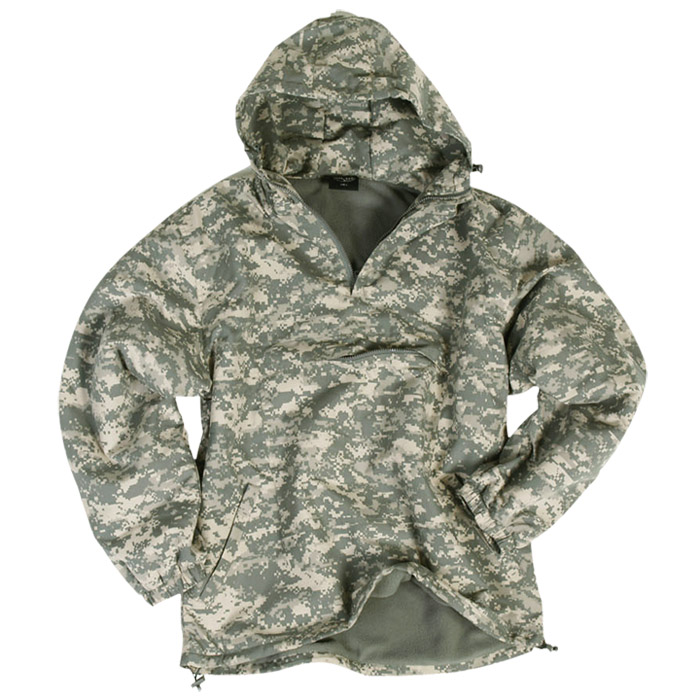Windproof Combat Mens Anorak Water-Repellent Hooded Jacket + Fleece ACU Digital