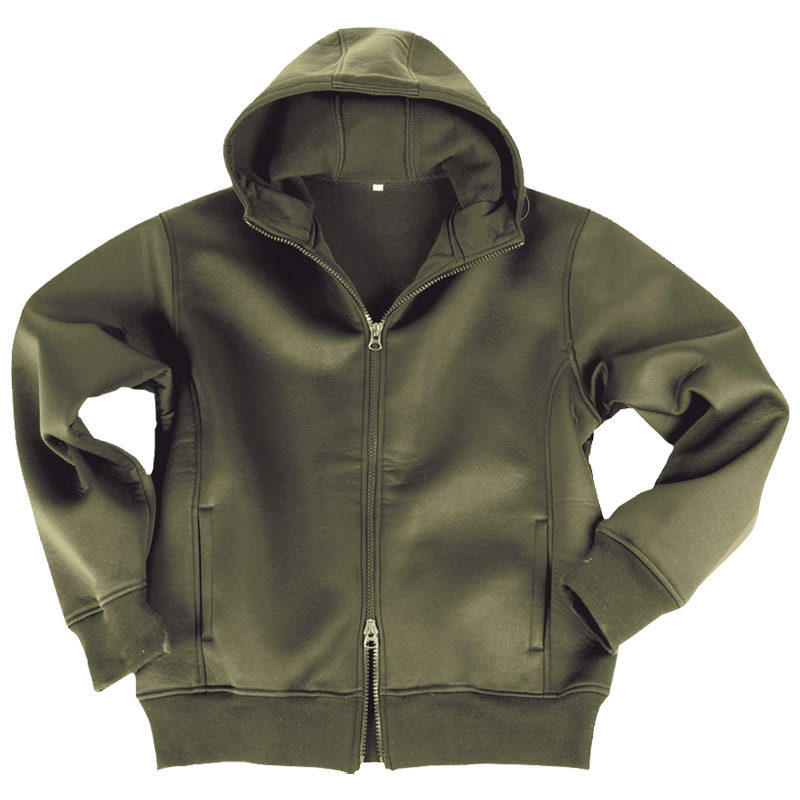 MILITARY NEOPRENE MENS JACKET with FLEECE LINING HOODED SWEATSHIRT ...