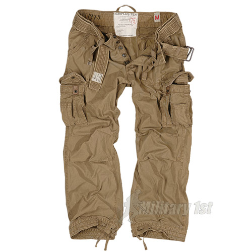 PREMIUM RAW VINTAGE MENS TROUSERS SURPLUS COMBAT PANTS WORK CASUAL COYOTE XS-XXL