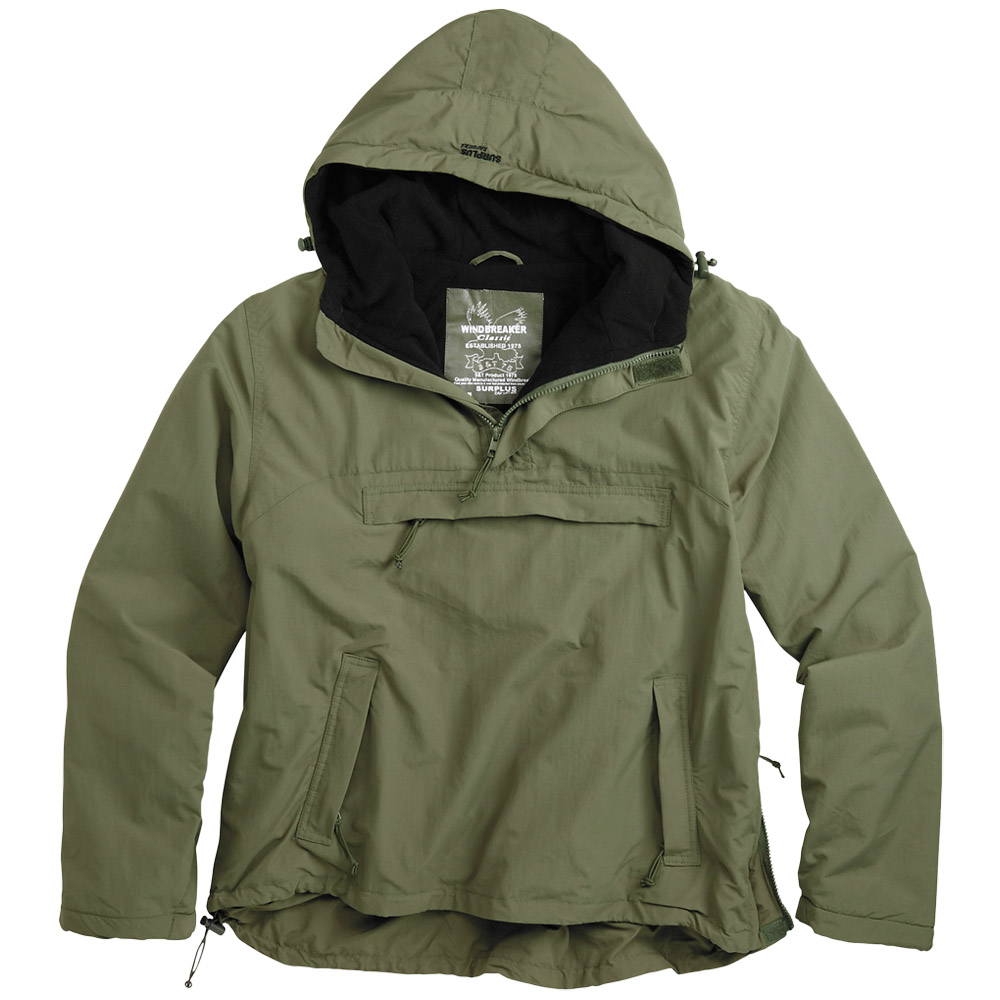 Windbreaker Hooded Mens Wind Rain Jacket with Warm Fleece Surplus