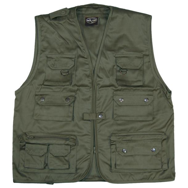 Fishing vest multi pocket mens waistcoat hunting travel for Mens fishing vest