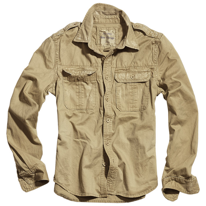 Surplus Army Raw Vintage Mens Shirt Long Sleeve Vintage Look ...