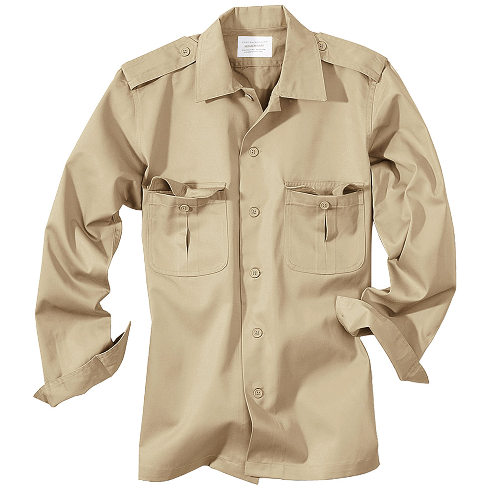 SURPLUS US SERVICE TACTICAL MENS COMBAT WORK SHIRT LONG SLEEVE ...