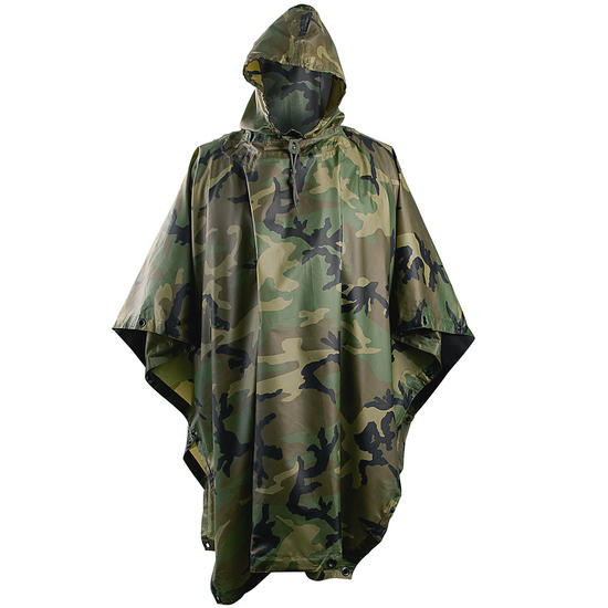 Helikon Waterproof Poncho Ripstop Woodland Preview