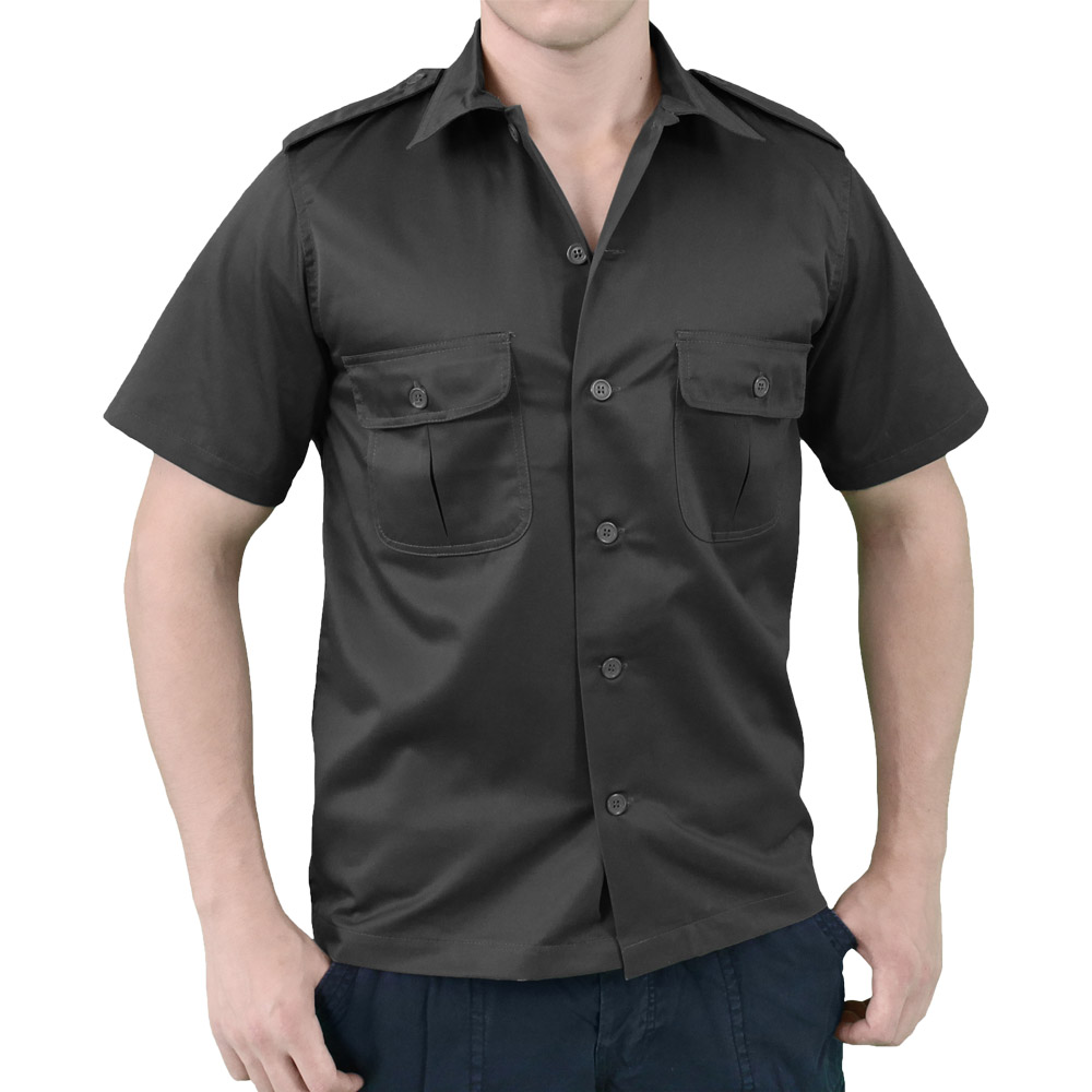 Surplus army combat tactical security work short sleeved for Short sleeved shirts for men