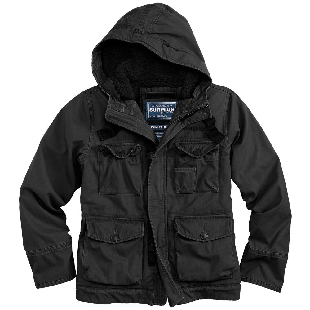 Surplus Supreme Vintage Hydro Mens Hooded Jacket Water-Resistant ...