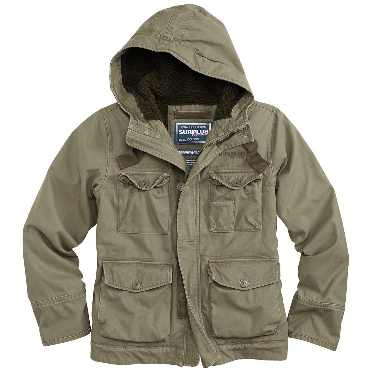 Surplus Supreme Vintage Hydro Mens Jacket Hooded Water-Resistant ...