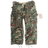 Surplus Engineer Vintage 3/4 Shorts Woodland