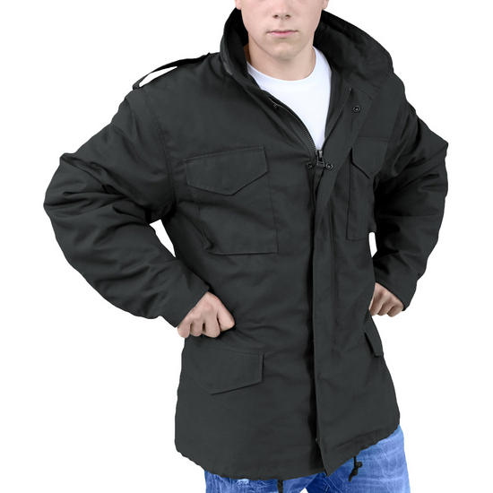Surplus M65 Jacket Black M65 Military 1st