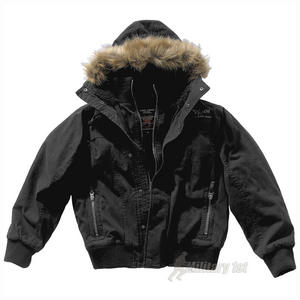 Pure Trash Jacket with Fured Hood Black