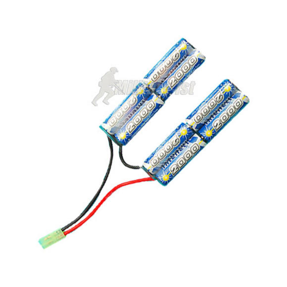 G&amp;P 9.6v 2000mAh V-Shape Battery