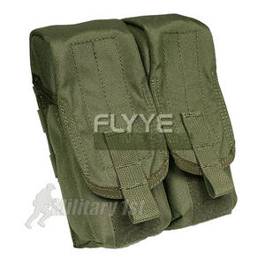 Flyye Dual AK Magazine Pouch MOLLE Ranger Green