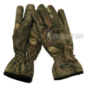 MFH Fleece Gloves Hunter Brown