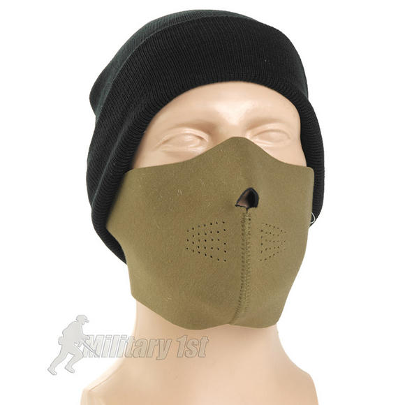 Mil-Tec Neoprene Half Face Mask Coyote