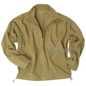 Mil-Tec Fleece Jacket with Ripstop Patch Coyote