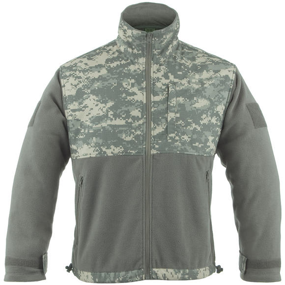 Mil-Tec Fleece Jacket with Ripstop Patch ACU Digital