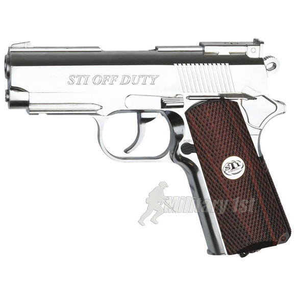 ASG STI Off Duty Pistol Silver / Brown