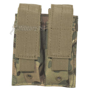 MFH Double 9mm Magazine Pouch Small MOLLE MultiCam