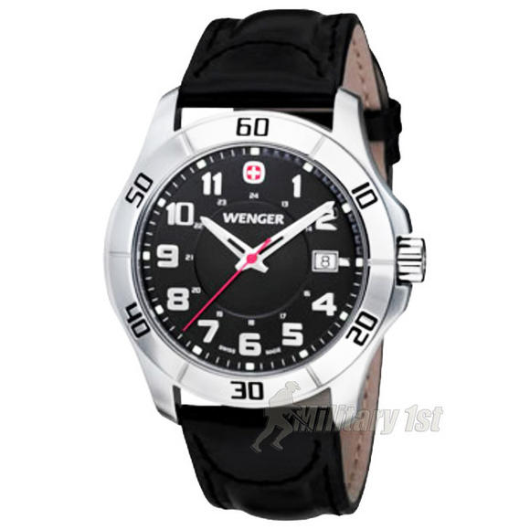 Wenger Alpine Watch Black Dial Black Strap