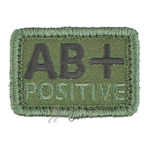 Helikon Blood Type Velcro Patch AB+ Olive Set of 2