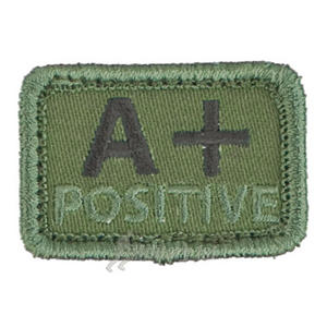 Helikon Blood Type Velcro Patch A+ Olive Set of 2