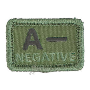 Helikon Blood Type Velcro Patch A- Olive Set of 2