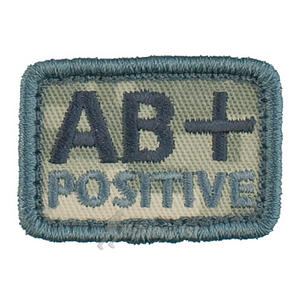 Helikon Blood Type Velcro Patch AB+ ACU Digital Camo Set of 2
