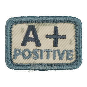 Helikon Blood Type Velcro Patch A+ ACU Digital Camo Set of 2