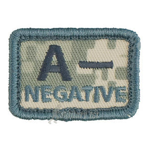 Helikon Blood Type Velcro Patch A- ACU Digital Camo Set of 2