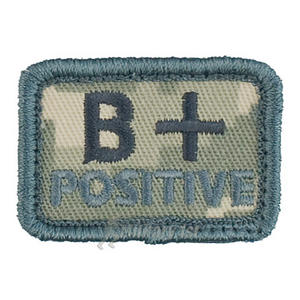 Helikon Blood Type Velcro Patch B+ ACU Digital Camo Set of 2