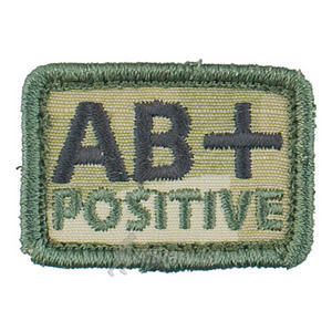 Helikon Blood Type Velcro Patch AB+ Polish Desert Set of 2