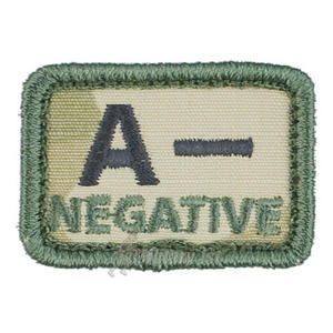Helikon Blood Type Velcro Patch A- Polish Desert Set of 2