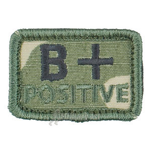 Helikon Blood Type Velcro Patch B+ Polish Desert Set of 2