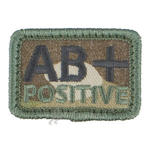 Helikon Blood Type Velcro Patch AB+ MultiCam Set of 2