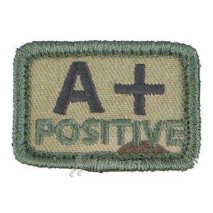 Helikon Blood Type Velcro Patch A+ MultiCam Set of 2