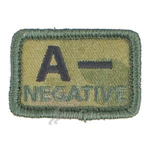 Helikon Blood Type Velcro Patch A- MultiCam Set of 2