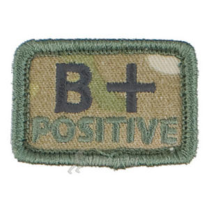 Helikon Blood Type Velcro Patch B+ MultiCam Set of 2