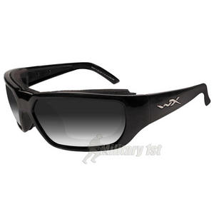 Wiley X Rout Glasses - Light Adjusting Smoke Grey Lens / Gloss Black Frame