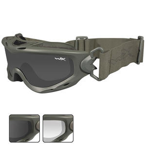 Wiley X Spear Goggles - Smoke Grey + Clear Lens / Foliage Green Frame