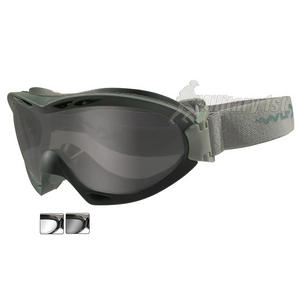 Wiley X Nerve Goggles - Smoke Grey + Clear Lens / Foliage Green Frame
