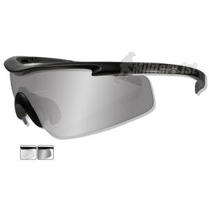 Wiley X PT-3 Glasses - Smoke Grey + Clear Lens / Matte Black Frame