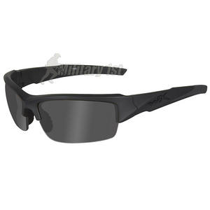 Wiley X WX Valor Glasses - Black Ops Smoke Grey Lens / Matte Black Frame