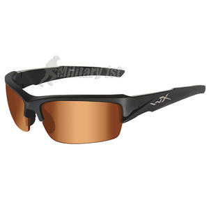 Wiley X WX Valor Glasses - Bronze Flash Lens / Matte Black Frame